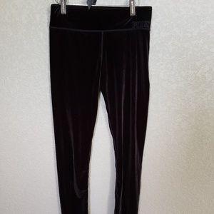 Pink Victoria's secret  velvet leggings